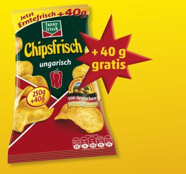 funny-frisch Chipsfrisch Ungarisch 1,89€ / 290g Tüte @penny