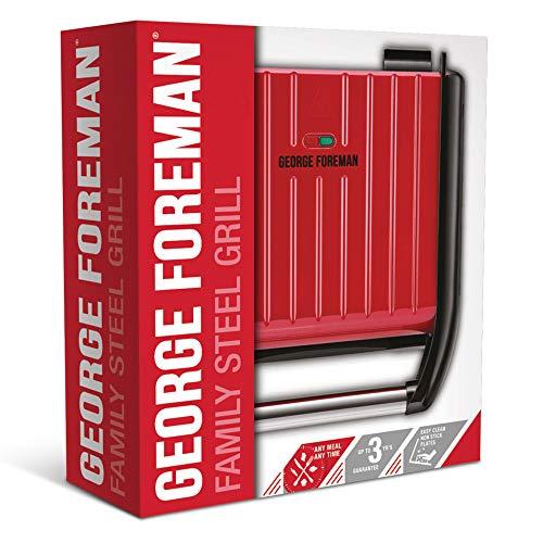 GEORGE FOREMAN 25040-56 Steel Family Fitnessgrill Kontaktgrill
