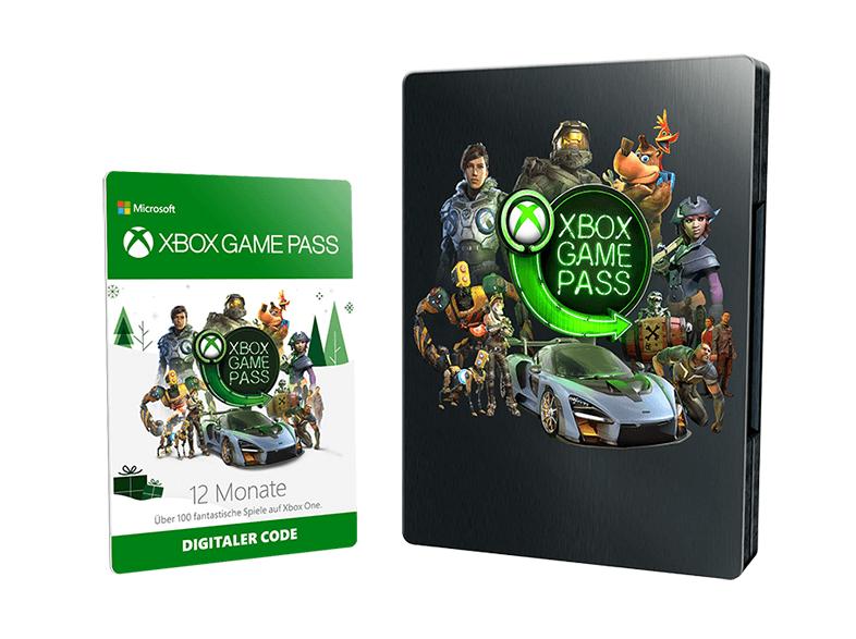 [Mediamarkt] Xbox Game Pass 12 Monate (Steelbook), Gutscheinkarten verwendbar, ideal als Geschenk