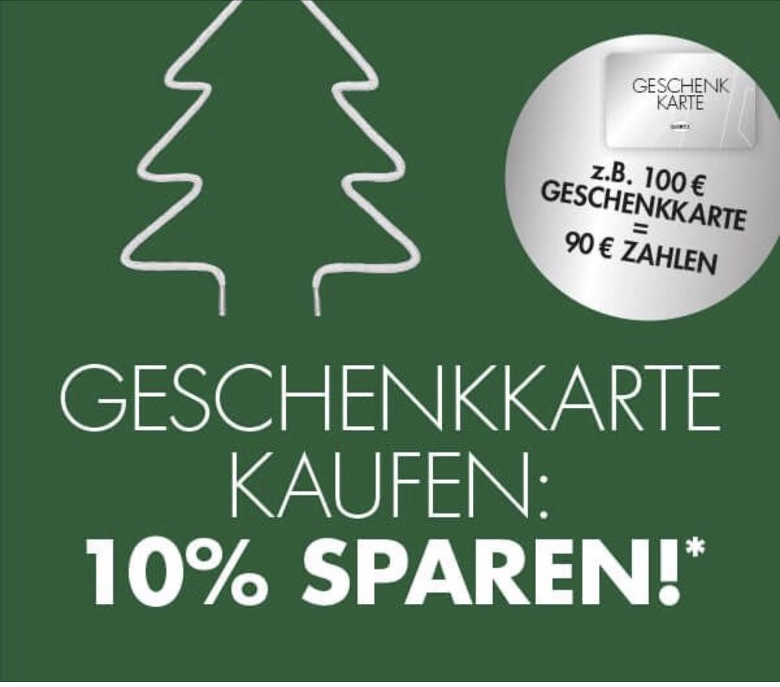 Görtz 10% auf Geschenkkarten