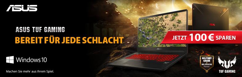 100,- € Rabatt beim Kauf von ASUS TUF Gaming-Notebooks