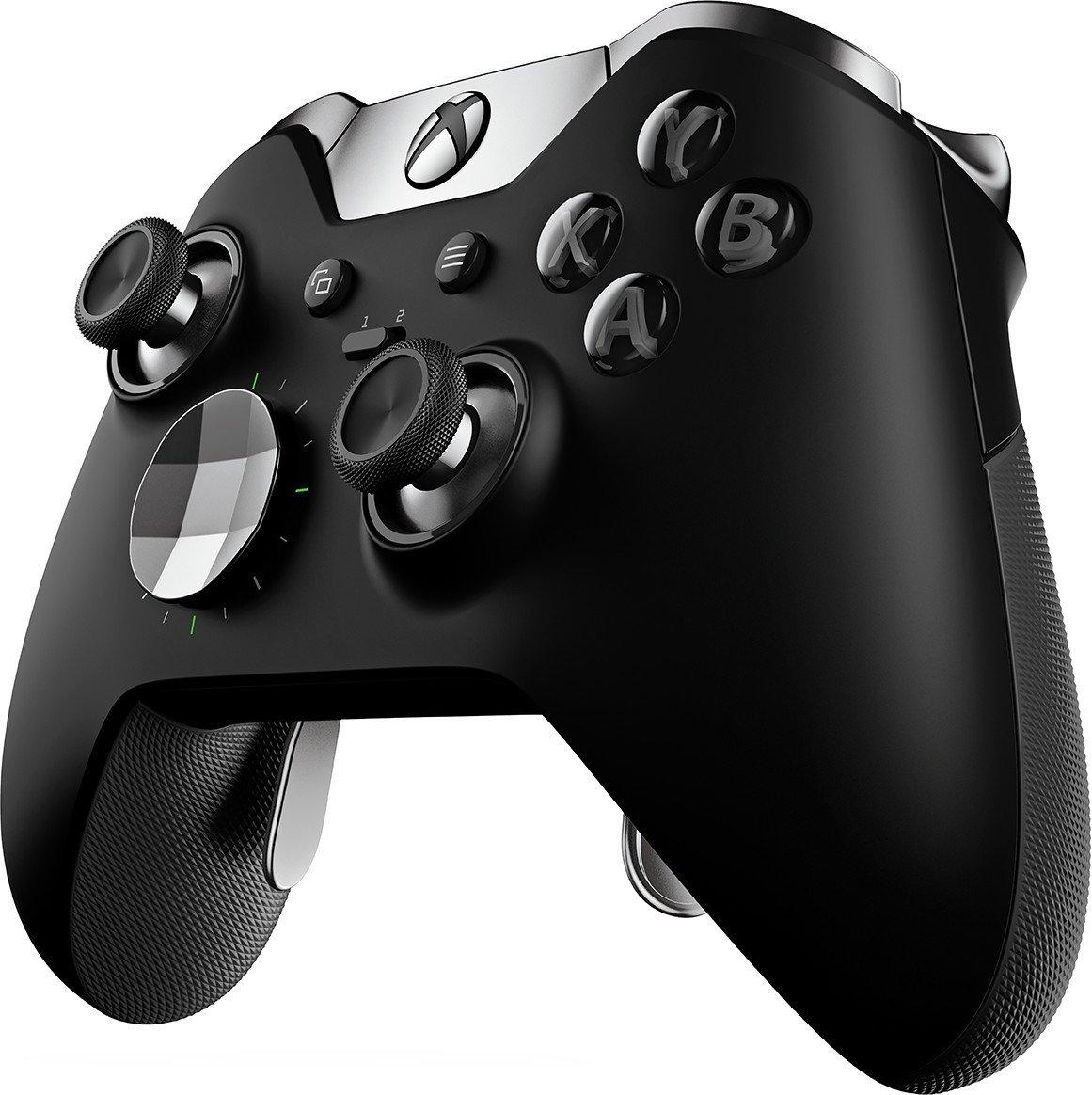 Xbox One - Original Wireless Elite Controller #schwarz [Microsoft] (OVP beschädigt) - Ausstellungsstück
