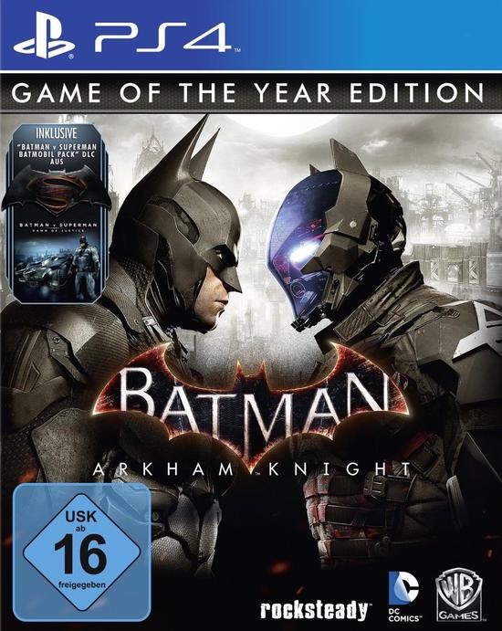 Batman: Arkham Knight Game of the Year Edition (PS4 & Xbox One) für je 13,95€ (GameStop)