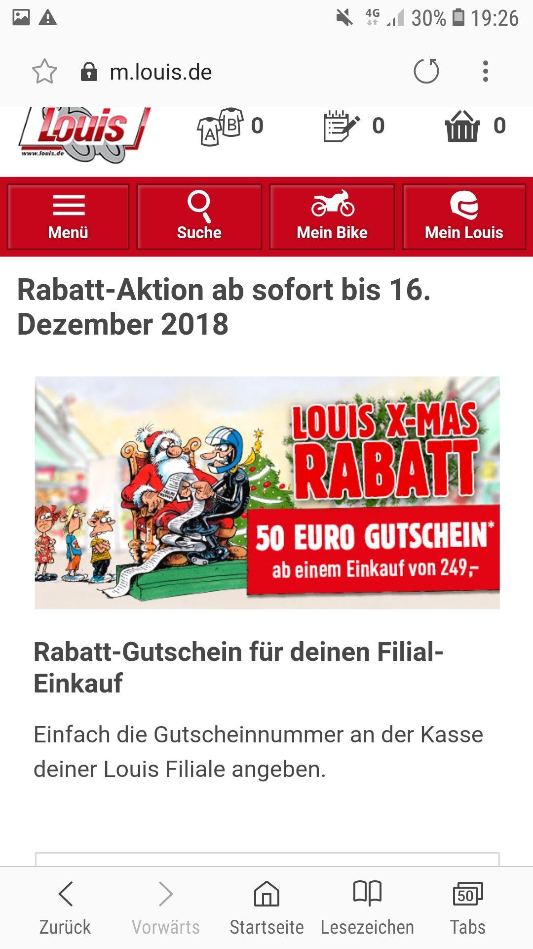 Louis Motorrad 50€ Rabatt in der Filiale & Online