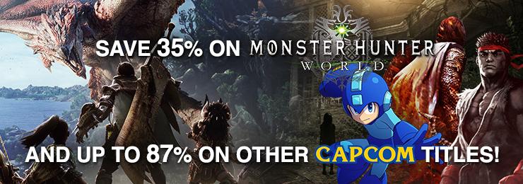 60 Capcom-Spiele um bis zu 87% reduziert (Monster Hunter World -35% / 38,99 €) | Steam keys