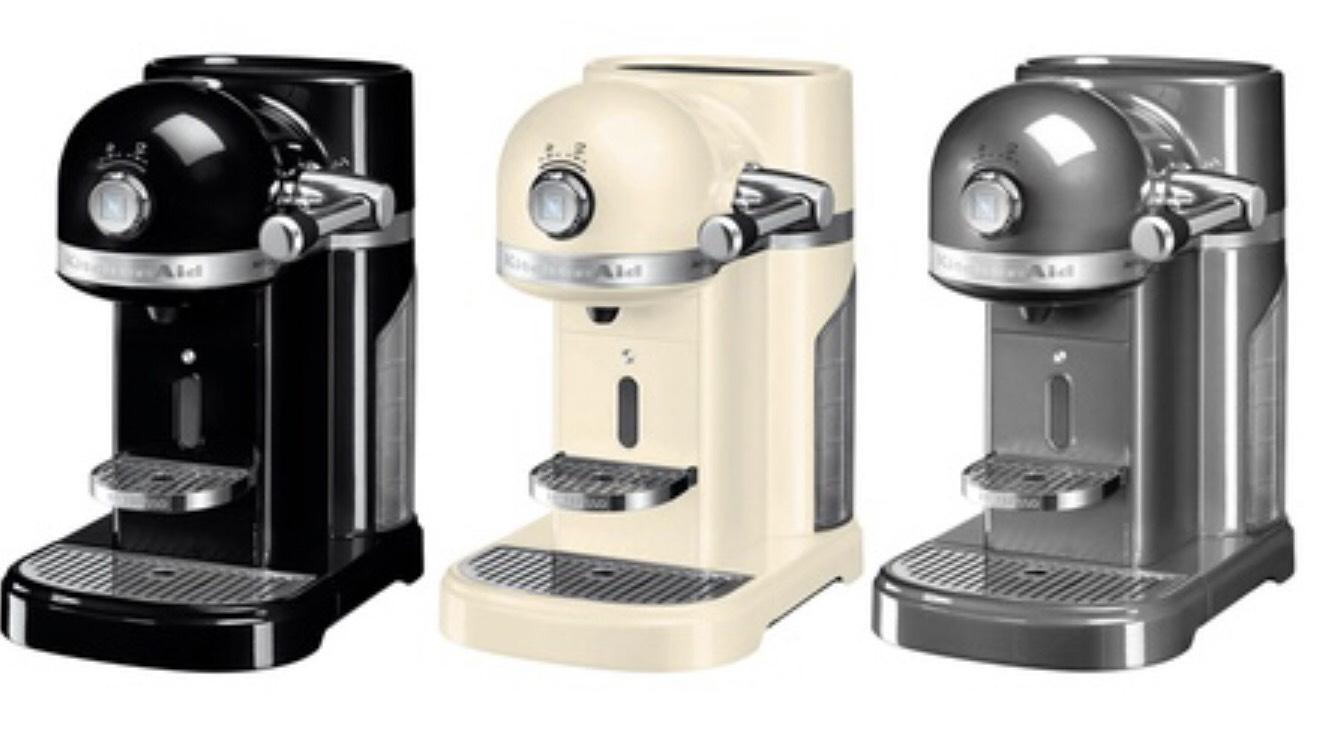 KitchenAid Artisan 5KES0504 Nespresso Kapselmaschine mit Aerocino 3 Aufschäumer