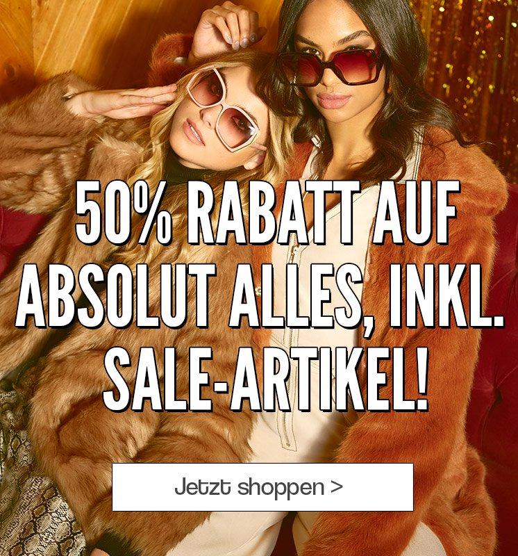 Boohoo: 50% Rabatt auf Alles inkl. SALE