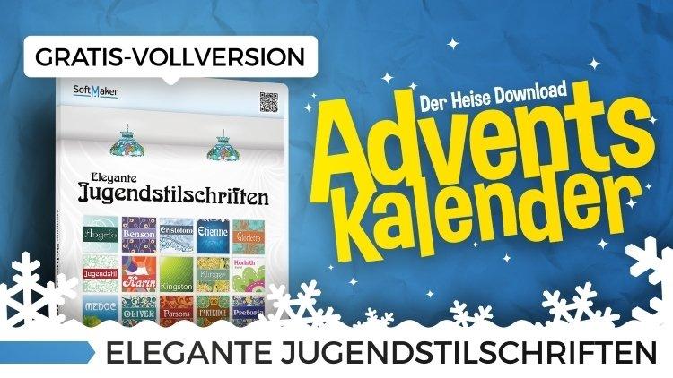 Heise Adventskalender Türchen Nr.12: Elegante Jugendstilschriften - Vollversion