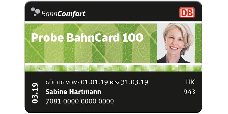 Probe Bahncard 100 mit 20% Rabatt für Senioren ab 65