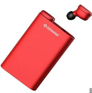 Alfawise Mini True Wireless Bluetooth 5.0 Earphones Kopfhöhrer in ear - LAVA RED Stereo mit  Powerbank !