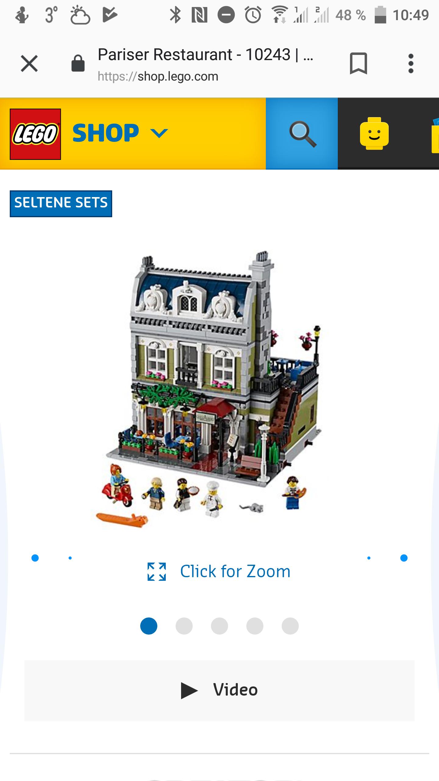 Lego Creator Expert Pariser Restaurant 10243 nachbestellbar