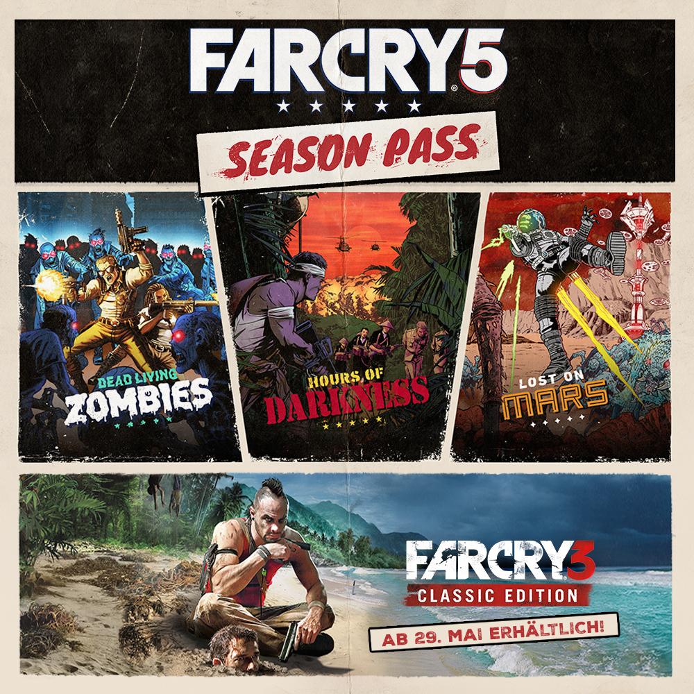 Far Cry 5 Season Pass (PS4) inkl. Far Cry 3 für 16,91€