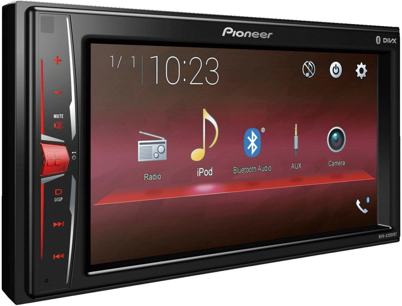 Pioneer MVH-A200VBT 2DIN Autoradio 15,7 cm (6,2 Zoll) Media Receiver, USB, Touchscreen, Bluetooth, Multicolour Beleuchtung, 4x 50 Watt