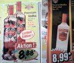 Smirnoff Wodka Limited Edition 0.7L 8.88€ bei Lidl/ Red Label 0.7L 8.99€ bei Norma