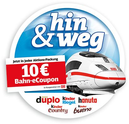 10€ DB Bahn e-Coupon @ Ferrero Aktionspackungen (gültig von 01.01.2019 - 17.04.2019)