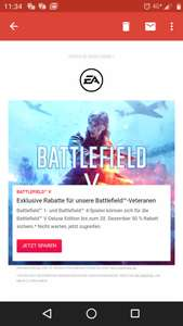 Deluxe Version only! Battlefield V / 50% für Veteranen InGame