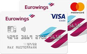 50€ Startguthaben + 5.000 Meilen für die im 1. Jahr kostenlose Eurowings Kreditkarte Classic oder Gold inkl. Versicherungen, Fastlane, etc.