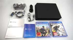 PlayStation 4 1TB Slim - Diverse Bundles - zB.: Uncharted 4 + Driveclub + The Last of Us ODER Watchdogs 1+2 ODER Final Fantasy XV