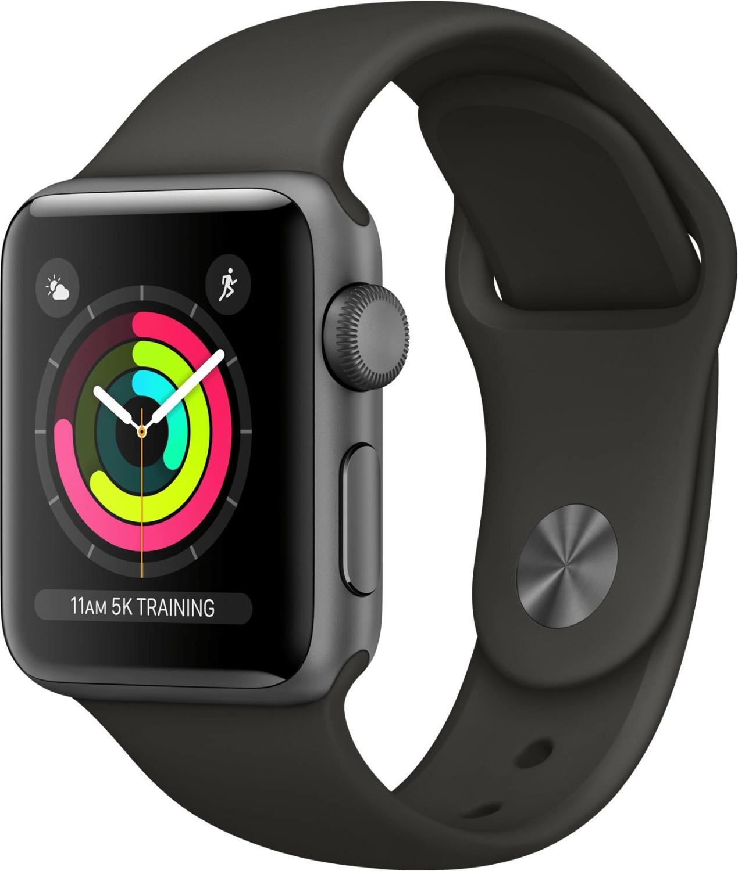Apple Watch Series 3 GPS Space Gray 38mm Black Sportarmband für 247,19€ inkl. Versandkosten [Amazon IT]