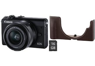 Canon EOS M100 Kit 15-45 mm EH31-FJ+16GB Set schwarz