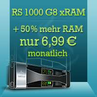 netcup VPS RS 1000 G8 mit 50% RAM extra