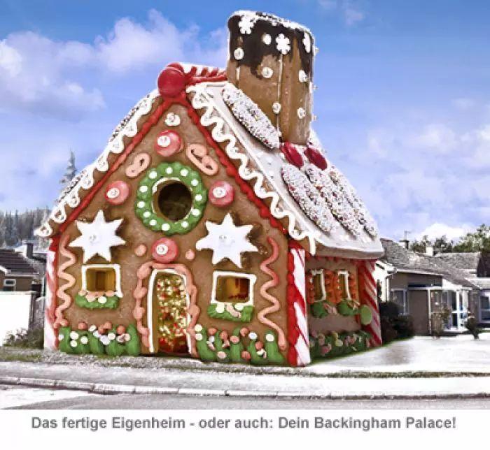 Lebkuchenhaus/Eigenheim zum selberbacken für 69,500€ inkl Versand