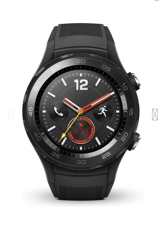 HUAWEI Watch 2 Smartwatch Kunststoff, 140-210 mm Carbon Schwarz für 169€ [Saturn]