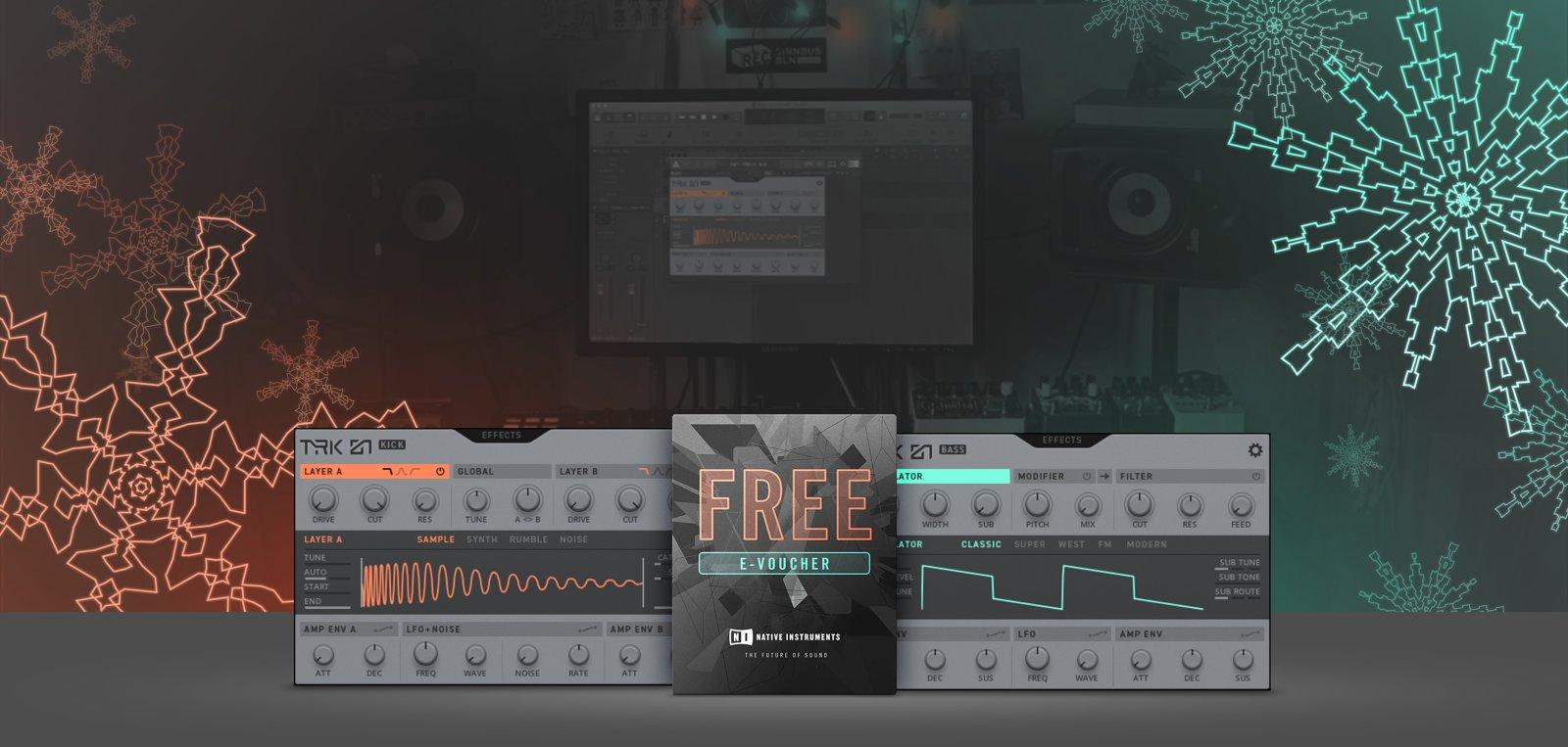 [Native Instruments] Kostenlos zwei Plug-Ins aus TRK-01 zum Downloaden | 25€ Gutschein für den NI Shop | Gewinnspiel