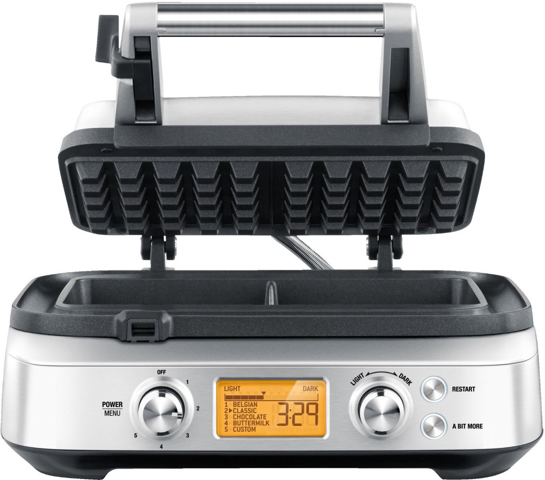 Waffeleisen Sage The Smart Waffle SWM620 (automatische Garzeitregelung, 4 Programme, 12 Bräunungsstufen, Antihaftbeschichtung, 1000W)