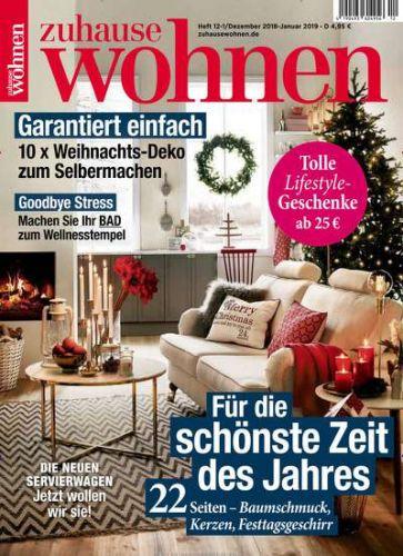Zuhause Wohnen Abo (10 Ausgaben) für 37,50 € mit 35€ BestChoice Universalgutschein oder 40 € Zalando-/OTTO Gutschein
