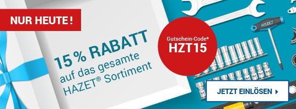 15% auf alle HAZET Werkzeuge bei Zoro.de