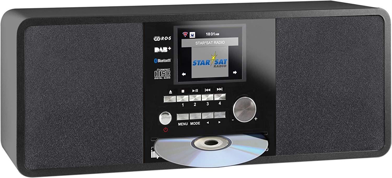 Digitalradio Imperial Dabman i200 CD (DAB+, UKW, Internetradio, CD, Bluetooth, WLAN, LAN, DLNA, USB, App, Spotify Connect)