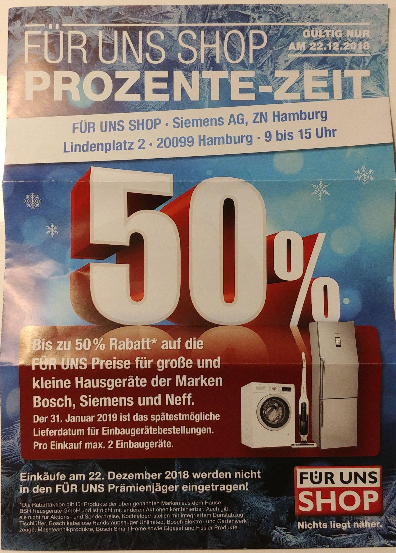 [Lokal?] Für Uns Shop Hamburg - Bis zu 50% Rabatt am 22.12.2018