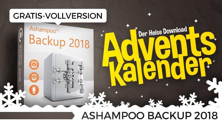 Heise Adventskalender Türchen Nr.15: Ashampoo Backup 2018 - Vollversion