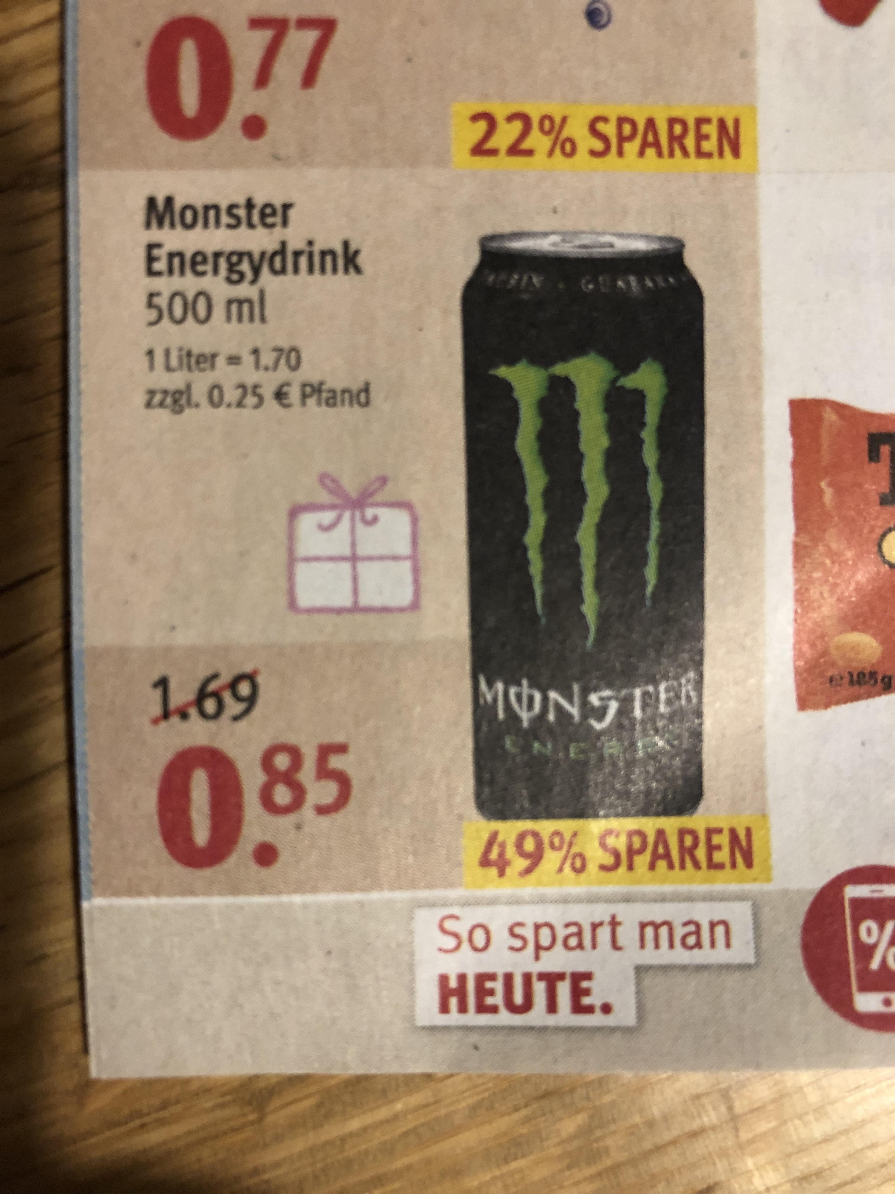 [rossmann] Monster Energy für 85 Cent -10% App Coupon