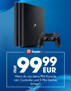PlayStation 4 Pro für 99,99€ bei Abgabe einer PS4 + 2 Spiele @ Gamestop