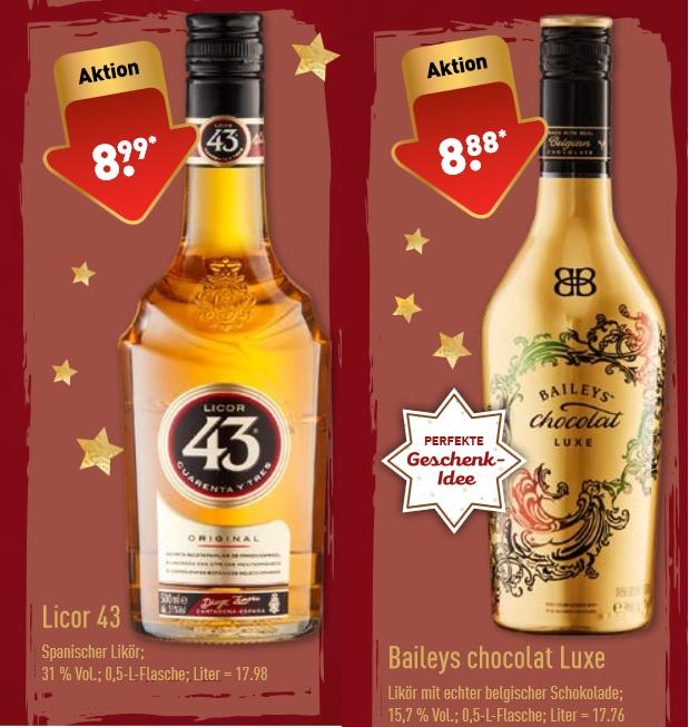 [ALDI Nord / Penny] KW 51 - Baileys chocolat luxe & Licor 43 Cuarenta Y Tres