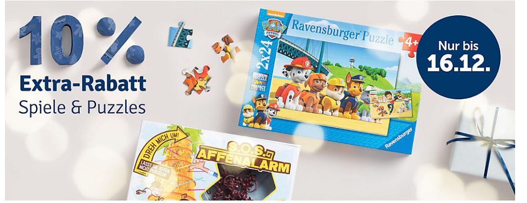 MyToys: Extra 10% Rabatt auf Spiele und Puzzles (MBW 29€, mit anderen Gutscheinen kombinierbar)