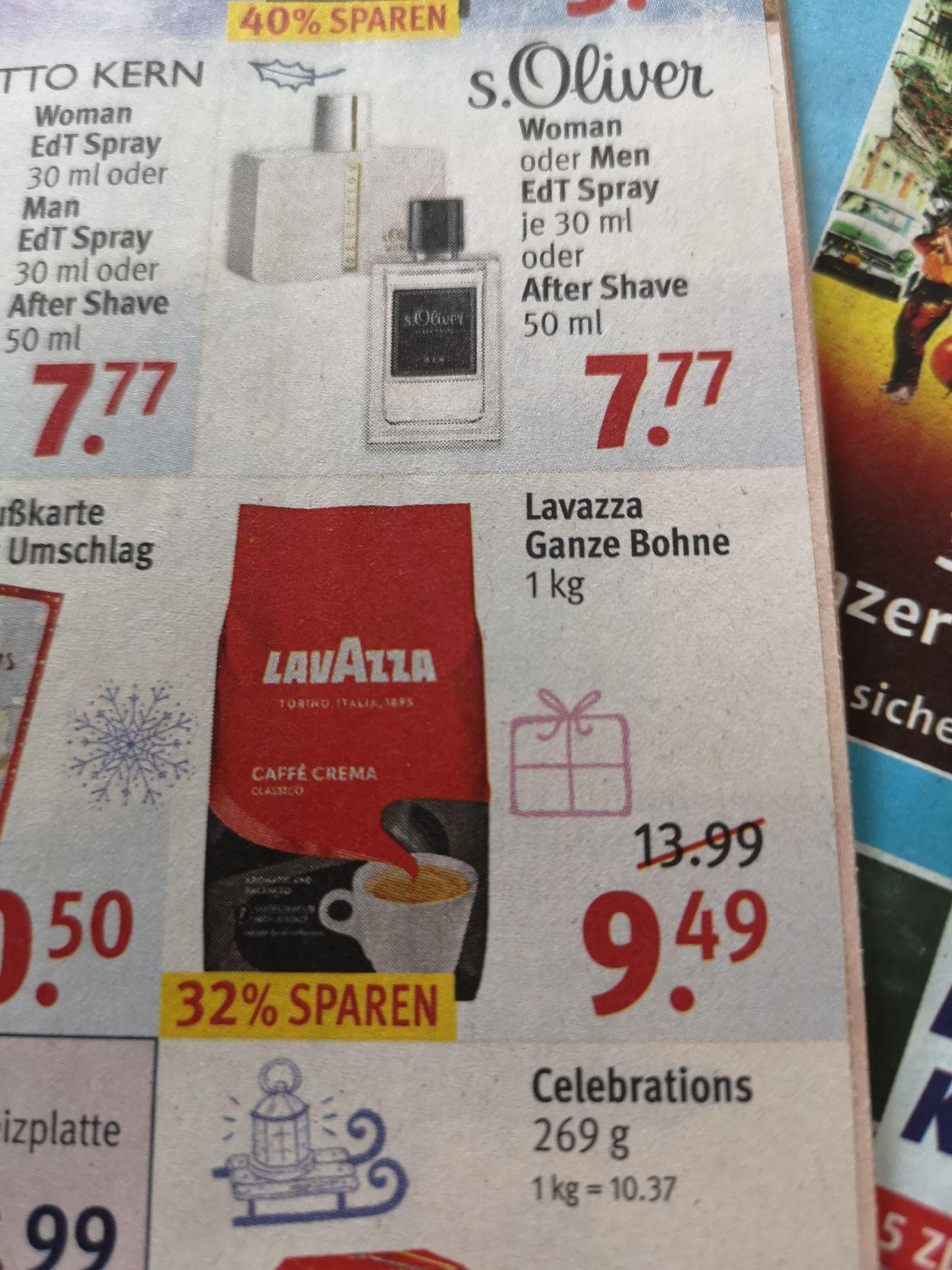 Lavazza Ganze Bohne Caffé Crema 1kg für 8.54€ bei Rossmann mit 10% Coupon
