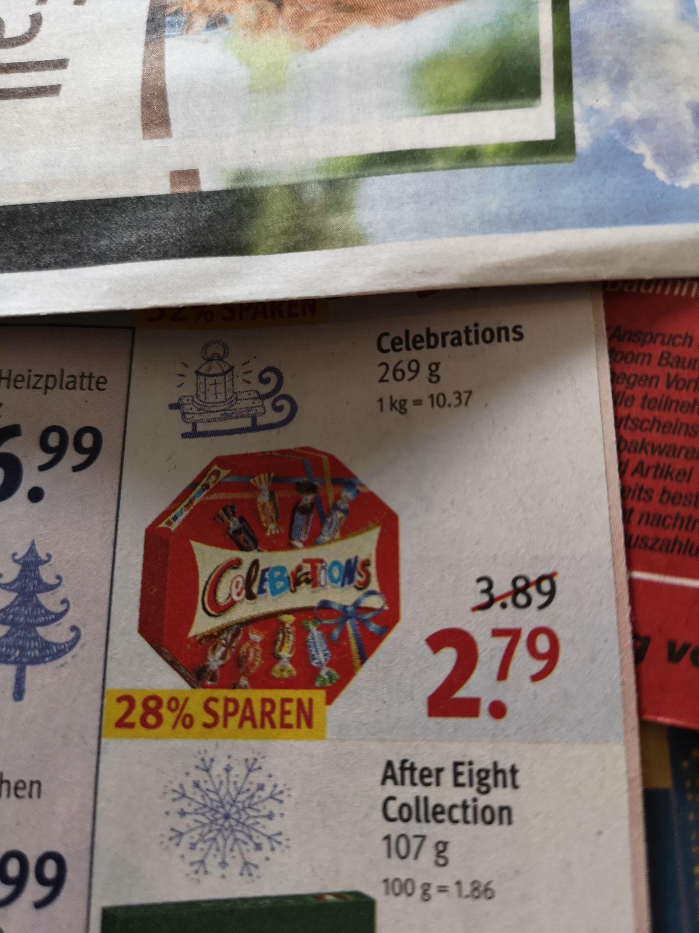 Celebrations 269g Packung für 2.51€  bei Rossmann 10% Coupon
