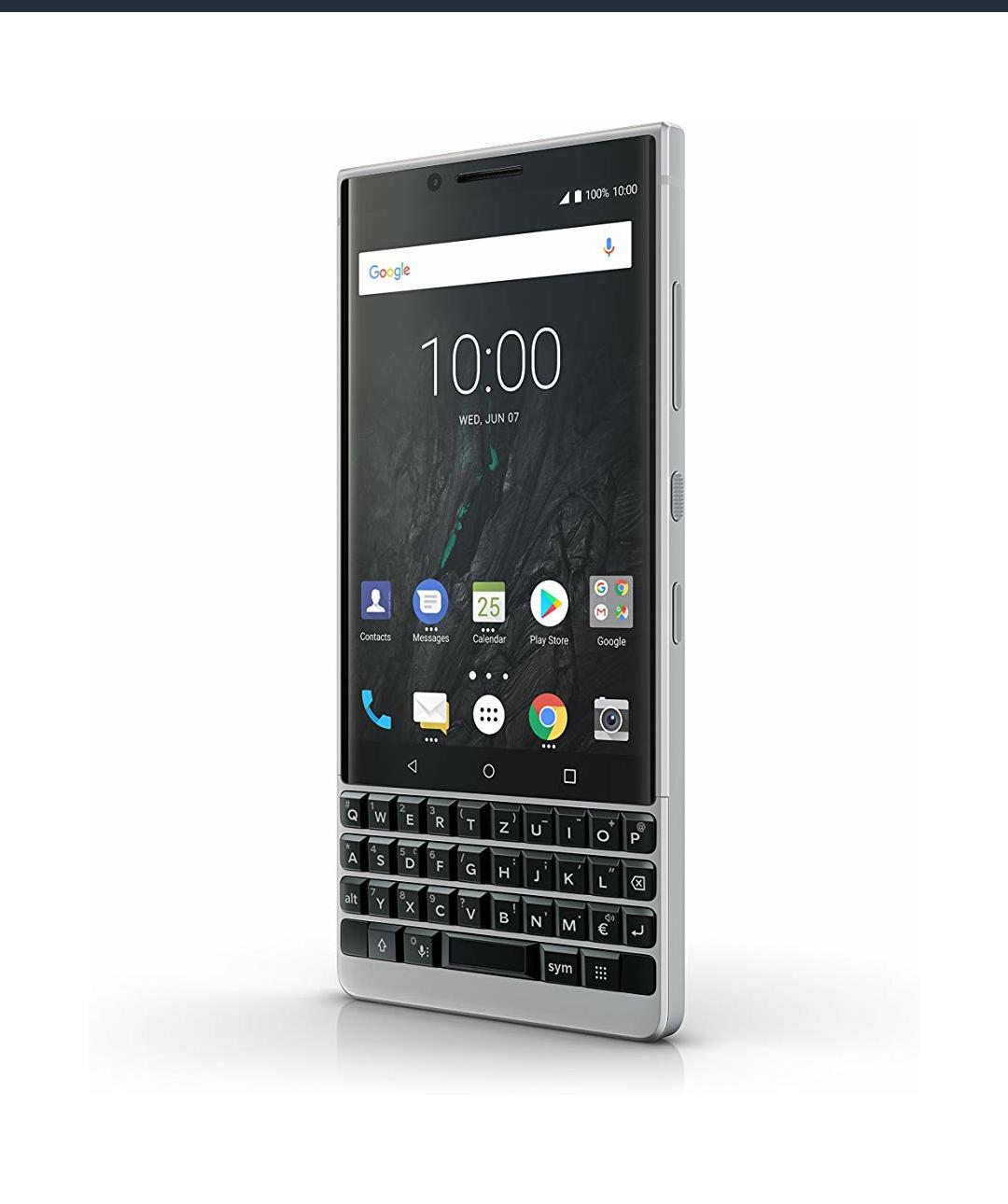 BlackBerry Key2 Single SIM in Silver und Black!