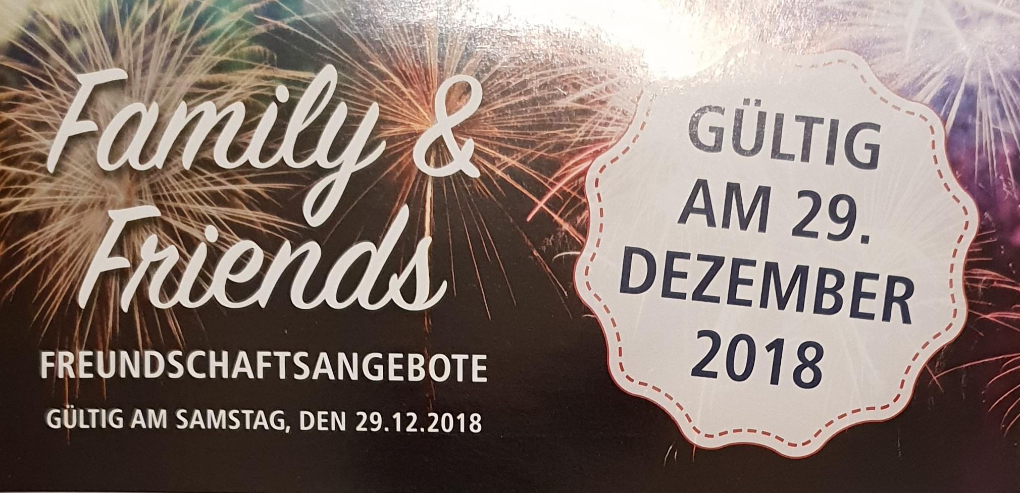 [REAL] Letzter Family & Friends Rabatt-Aktionstag des Jahres am 29. Dezember 2018 (bundesweit in allen Real Märkten)