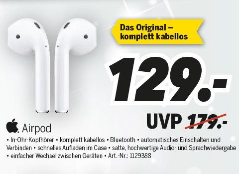 [lokal Oranienburg Medimax] Apple AirPods