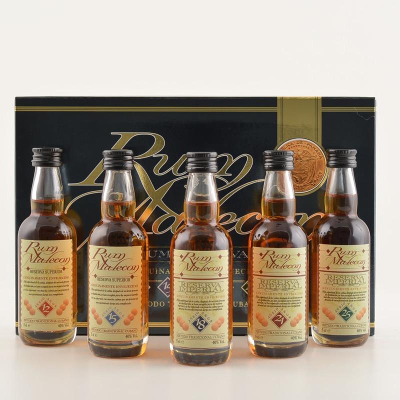 Malecon Rum Reserva Tasting-/GeschenkSet 5x0,05l