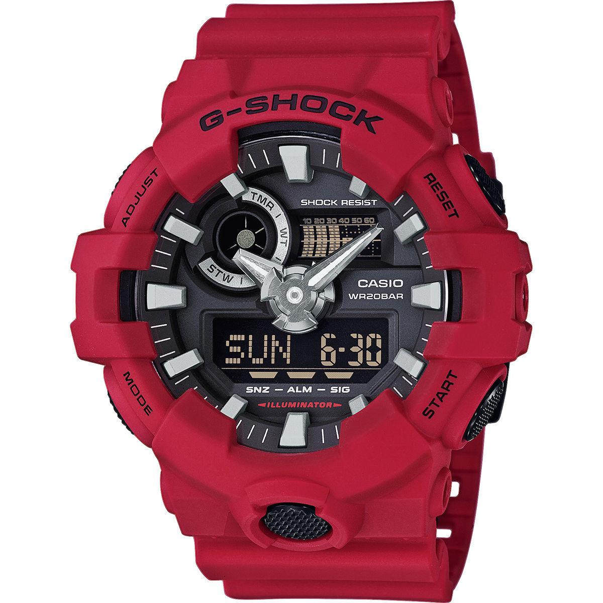 Casio G-Shock  GA-700-4AER (rot) oder GA-700-7AER (weiß)  - Versandkostenfrei mit Gutschein -