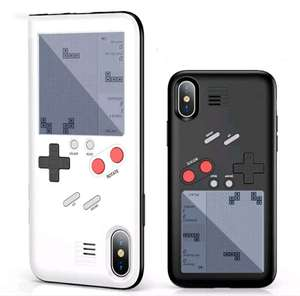 iphone h lle mit gameboy konsole 24 spiele z b tetris. Black Bedroom Furniture Sets. Home Design Ideas
