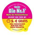 5€ Tankgutschein beim Kauf von 2 Vanish Produkten @Offline