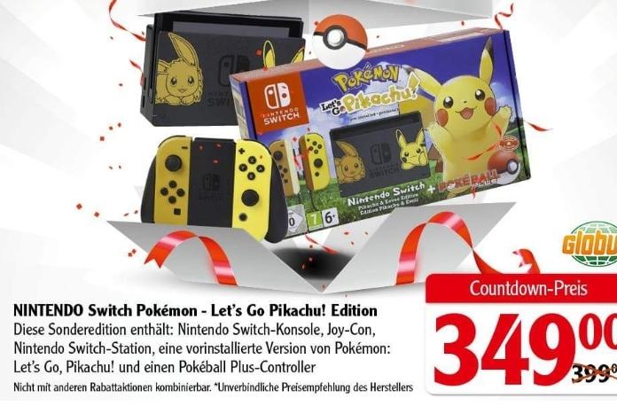 [GLOBUS Leipzig-Seehausen] Nintendo Switch - Let's Go Pikachu Edition inkl. Pokeball