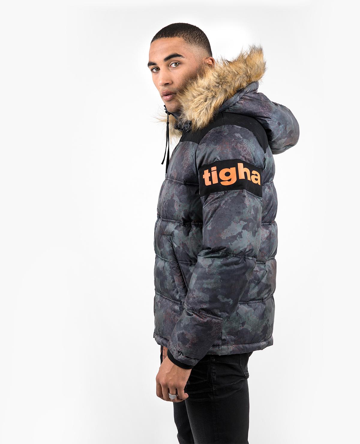 (Tigha.com) Tigha Kleist Spray Camouflage Wintersale Winterjacke