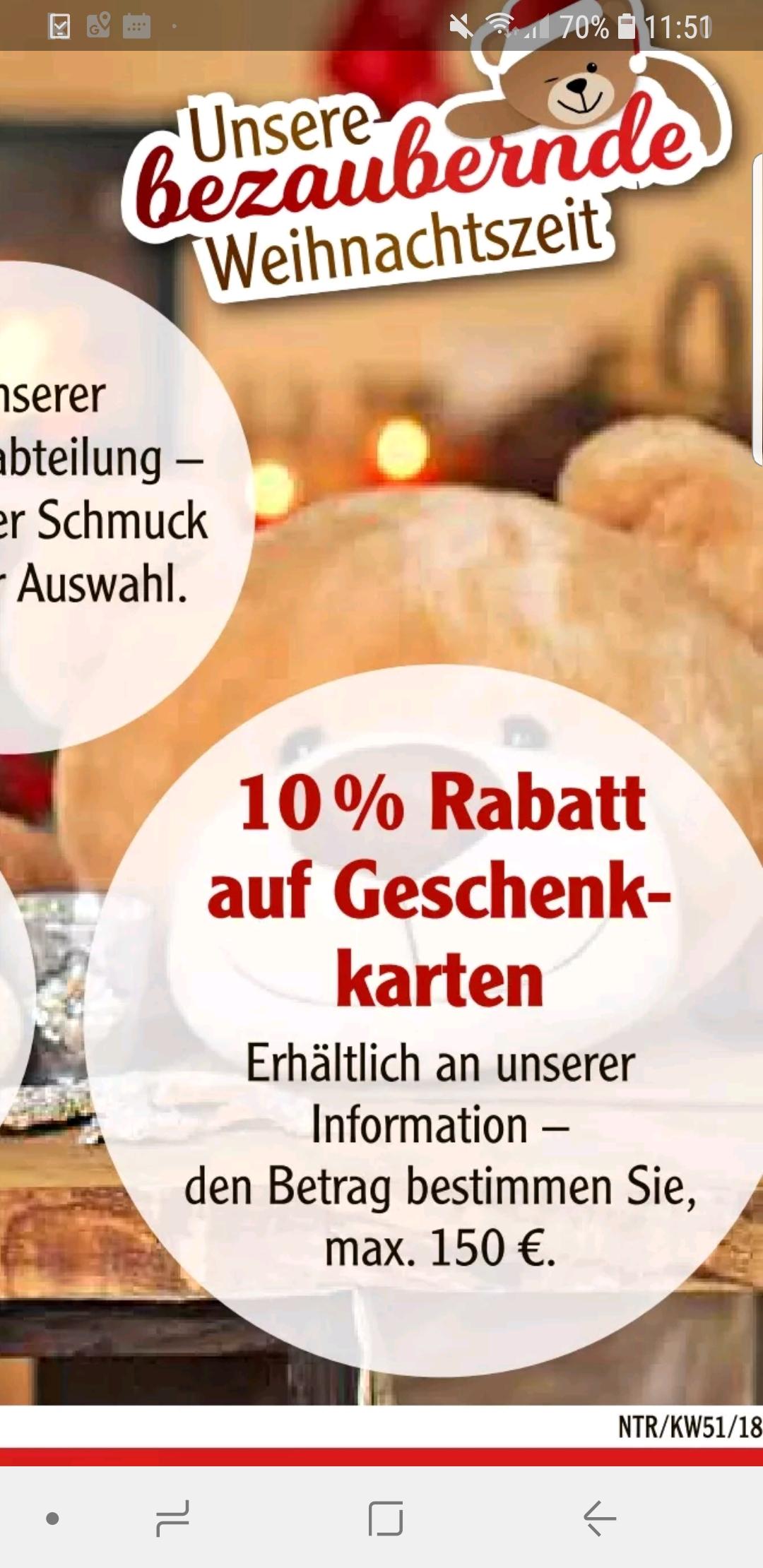 [Regional] GLOBUS Neutraubling 10% auf Geschenkkarten